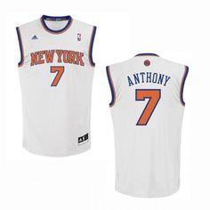 7377c4995 adidas 2012 Knicks Carmelo Anthony Revolution 30 Replica Home Jersey Mecca