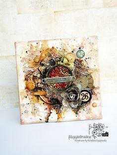 Retro Inspiracje: Warstwowy blejtram Karoliny / Retro Inspirations: Karolina's layered canvas