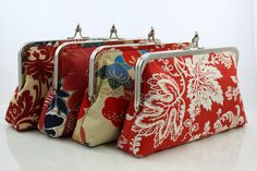 Hey, I found this really awesome Etsy listing at https://www.etsy.com/listing/106435335/red-bridesmaid-kisslock-clutches-red