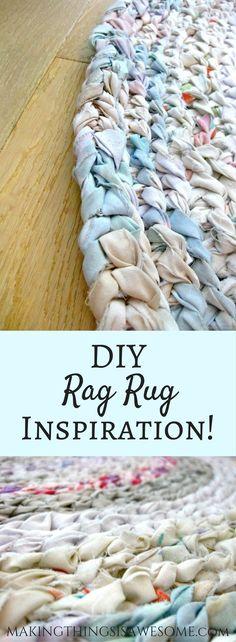 Good Free of Charge Braided Rug diy Ideas – Braided Rugs Diy Fabric Rug, Fabric Scraps, Scrap Fabric, Ideas Scrap, Diy Ideas, Craft Ideas, Decorating Ideas, Rag Rug Diy, Diy Rugs