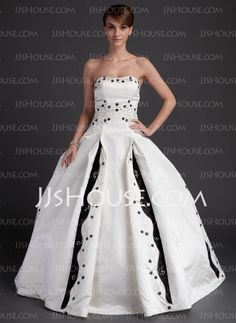 Wedding Dresses - $205.89 - A-Line/Princess Sweetheart Chapel Train Satin Wedding Dresses With Embroidery (002011627) http://jjshouse.com/A-line-Princess-Sweetheart-Chapel-Train-Satin-Wedding-Dresses-With-Embroidery-002011627-g11627