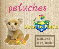 Peluches a prezzi imbattibili! Consegna in 24/48 ore! http://www.eccolafesta.it/idee-articoli-per-feste/peluches.html