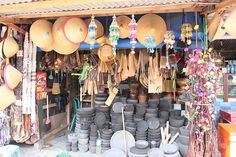 market at Borobudur -- Jogjakarta / Yogyakarta, Java, Indonesia