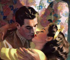 Por amor al arte: William Andrew Loomis Por amor al × por imagen An error occurred. Romance Art, Vintage Romance, Vintage Art, Vintage Kiss, Andrew Loomis, Pin Up, Vintage Couples, Popular Artists, Pulp Art