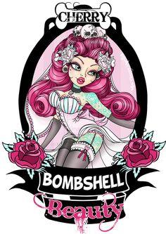 """""""Cherry Bombshell Beauty"""" Logo/Tee Design **SOLD** Link: [link] All rights reserved. Copyright © Cherry Bombshell Beauty/ Miss Cherry Martini 2012 Cherry Bombshell Beauty Logo Art Pop, Deviantart, Art Sinistre, Rockabilly Art, Pin Up Girl Tattoo, Arte Sailor Moon, Bombshell Beauty, 3d Fantasy, Creepy Art"""