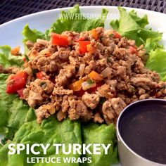 Here's one of our most favorite 21 Day Fix approved and unbelievably good meals! Have you tried them out yet? If not, you're missing out! Here's the recipe! http://fitssimple.com/pepper-turkey-lettuce-wraps/ #cleaneats #21DayFix