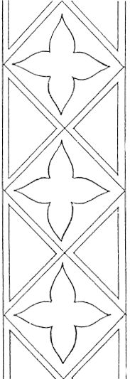 "Free Hand Embroidery Pattern: Bookmark or ? – Needle'nThread.com (cira 13-14th century or ""gothic"" design)"