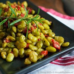 Roasted Lima Beans with Italian Herbs.  My kids & husband like these!  WOW!