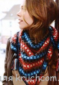 Вязание шали и платков крючком - подборки, модели, фото – Страница 2 из 5 : Kruchcom.ru Fashion, Moda, Fashion Styles, Fashion Illustrations