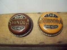 Shinola Vintage Shoe Polish Tins by ColeandMasons on Etsy, $28.00