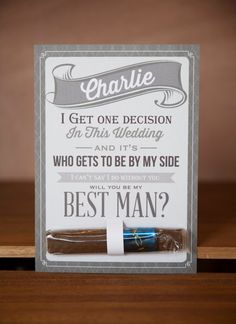 Will You Be My Groomsman by LKBridal on Etsy