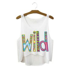 Wild ladies printed summer festival crop tops