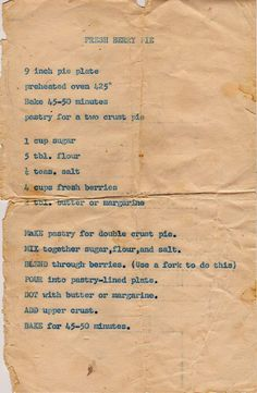 A Cake Bakes in Brooklyn - She finds old recipes - at estate sales and b uplogs about them after making them. Retro Recipes, Old Recipes, Vintage Recipes, Cookbook Recipes, Baking Recipes, Sweet Recipes, Cake Recipes, Dessert Recipes, Strudel Recipes