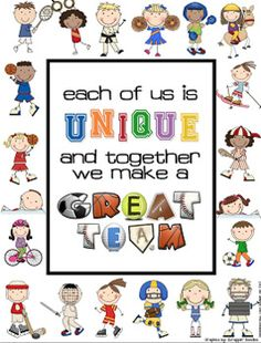 """Sports Themed """"TOGETHER WE MAKE A GREAT TEAM"""" Door Decoration Team Bulletin Board, Sports Bulletin Boards, School Bulletin Boards, Classroom Door, Sports Theme Classroom, Classroom Quotes, School Classroom, Classroom Design, Sports Day"""