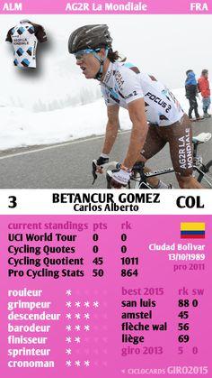 Carlos Alberto Betancur Gomez Colombia AG2R La Mondiale Giro 2015 ciclocards