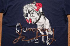 Jockey Horse Jumping T-Shirt, Tami Firebaugh Graphic Tee, Vintage 90s, 2-Sided