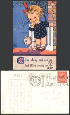 Nora-Annie-Birch-1933-Old-Postcard-Come-Along-See-Me-Ill-be-Looking-Out-For-You