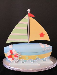 Sailboat Baby Shower Cake