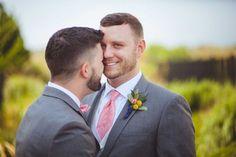 CJ and Drew's gray and pink wedding   Lesner Inn   Virginia Beach, VA   filed under: gay marriage, gay weddings, LGBTQ, love, same-sex weddings, grooms, photography