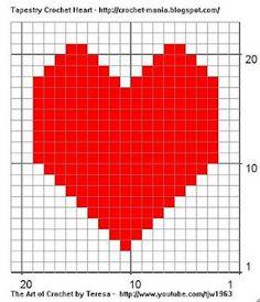 Heart Tapestry Crochet Square pattern