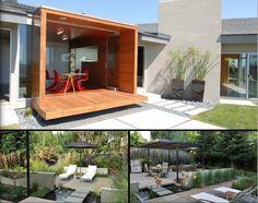 betonnen tegels in de tuin
