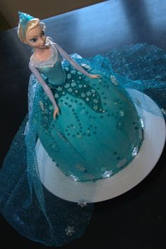 Disney Frozen Birthday Cake @Teresa Selberg Selberg Ward what if we did something like this and then some cupcakes?
