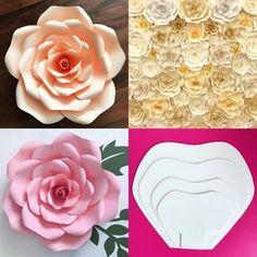 molde de flor de papel gigante - DIY | De Frente Para O Mar
