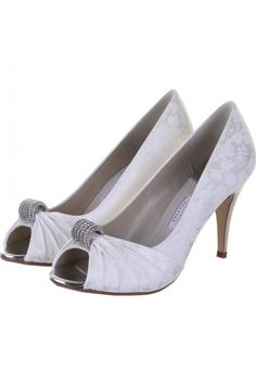 07961a7924b Fabia - Floral Satin Peep Toe Shoes by Rainbow Club - Buy online from