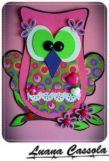 Usando a Cachola: Bolsa coruja rosa poá