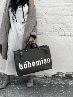 The Bohemian Travel Bag - Army Belt Purse, Look Older, Minimalist Fashion, Minimalist Style, Leather Handle, Travel Bags, Canvas Fabric, Shoulder Strap, Black Leather