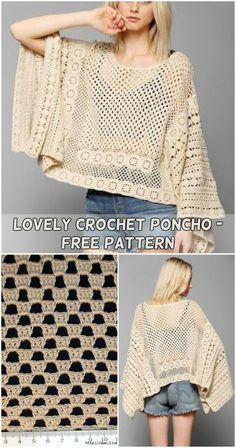 Lovely Crochet Poncho - Free Pattern