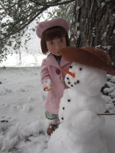 A Girl For All Time Clementine All About Time, Snowman, Dolls, Outdoor Decor, Collection, Home Decor, Baby Dolls, Decoration Home, Room Decor