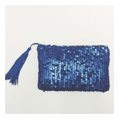 A personal favorite from my Etsy shop https://www.etsy.com/listing/175343384/navy-blue-sequined-clutch-matte-metallic