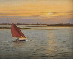"""""""Hacia el sol"""". Sergio Roffo. Pintor estadounidénse, nacido en Italia en 1953."""
