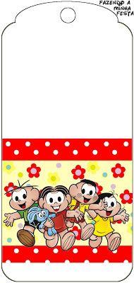 Turma da Mônica - Kit Completo com molduras para convites, rótulos para guloseimas, lembrancinhas e imagens! Hello Kitty, Snoopy, Alice, Fictional Characters, Resume Templates, Reading Room, Free Printables, Sweet Like Candy, Invitations