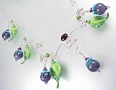 Amethyst Winds Lampwork Bead Necklace