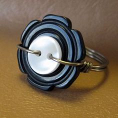 Button Ring! For old times sake! 1st piece of jewelry I ever made!!! A button ring!
