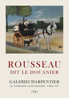 Fine Art Posters, Cool Posters, Poster Vintage, Vintage Prints, Art Exhibition Posters, Henri Rousseau, Paris, Poster Prints, Art Prints