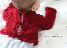 knitting kit baby alpaca sweater indri sweater