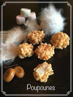 Comme je les comprends les québécois... Comment résister à une bonne poupoune? Des petites boules caramélisées à la texture surprenante... A la fois croustillante et fondante! De quoi envisager un petit voyage au Québec ou la poupoune est une spécialité... My Favorite Food, Favorite Recipes, Caramel, Cauliflower, Biscuits, Stuffed Mushrooms, Goodies, Rice, Vegetables