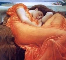 Flaming June - Leighton, Frederic - Gallery - Web gallery of art Memes Arte, Color Quiz, Art History Memes, K Dick, Classical Art Memes, Web Gallery Of Art, Funny Memes, Hilarious, Reading At Home