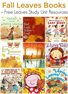 Books about Fall Leaves for Children (Leaves Study Unit)