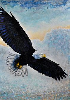 Soaring Eagle - Fine Art Paper, or Stretched Canvas print, Christian art, Religious Art unframed  What is a Giclée?  Like the long standing…