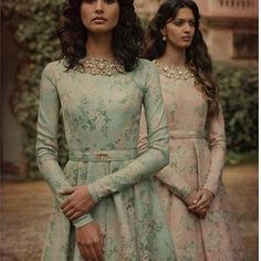 Dusty floral gowns from Sabyasachi #sabyasachiofficial #sabyasachibride #palermoafternoons #gowns #printed #floral #summer2017 #summerwedding #thebollywoodcloset