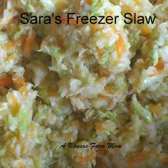 Coleslaw you can make now and enjoy this winter.  Grandma's Freezer Slaw recipe.