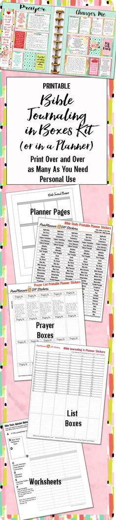 The Free Bible Journaling Guide will be sent free to the first 3,000 that join the Bible Journaling mail list. . The PDF pages are designed to fit in the Happy Planner or notebook. This is a work in p