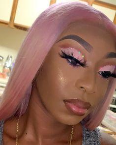 Makeup For Black Skin, Black Girl Makeup, Pink Makeup, Cute Makeup, Girls Makeup, Glam Makeup, Gorgeous Makeup, Pretty Makeup, Beauty Makeup