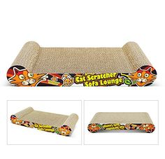 Cat Scratcher,Tinkle ONE Cat Scratching Lounge and Bed - Recycled Corrugated Cardboard Cat Scratching Pad with Catnip ^^ You can get more details here : Cat scratcher