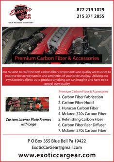 """Black /""""FERRARI/"""" License Plate Frame Custom Real Carbon Fiber No Vinyl Red"""