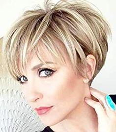 Haircut For Older Women, Short Hair Older Women, Haircuts For Fine Hair, Short Pixie Haircuts, Short Hairstyles For Women, Wig Hairstyles, Haircuts For Over 60, Haircut Short, Layered Hairstyles